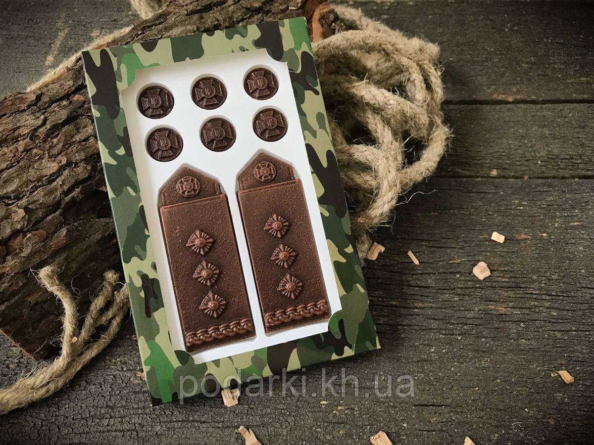 Шоколадные погоны полковника в подарок военному