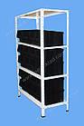 Стеллаж металлический 1800х900х400 мм(4 полки), стеллаж с метизными ящиками, складской стеллаж с лотками, фото 4