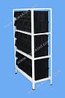 Стеллаж металлический 1800х900х400 мм(4 полки), стеллаж с метизными ящиками, складской стеллаж с лотками, фото 3