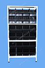 Стеллаж металлический 1800х900х400 мм(4 полки), стеллаж с метизными ящиками, складской стеллаж с лотками, фото 2