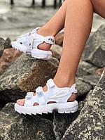 Босоножки женские в стиле Fila (фила), сандалии на платформе