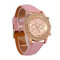 Женские часы(женева) Geneva Diamond Розовые, фото 1
