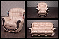 "Комплект мягкой мебели ""Джове"" в ткани, диван с раскладушкой для сна и два мягких кресла"