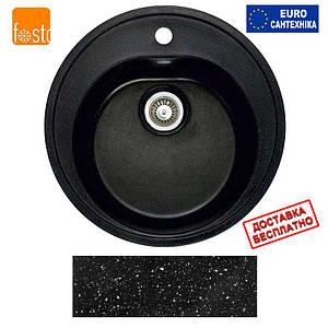 Гранитная мойка Fosto D470 SGA-420 (черный)