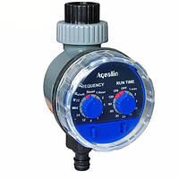 Контроллер Aqualin 21025 для автоматического полива  с механическим таймером и шаровым клапаном