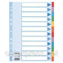 Разделители из цветного картона A4, Esselte, 12 листов
