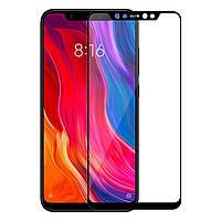Стекло Full Glue 5D Xiaomi Mi 8, Black (техпак)
