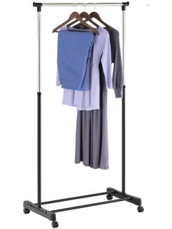 """Телескопическая стойка для одежды """"Хайди"""" с полкой для обуви 140см Х 43см Х 160см, стойка-вешалка для одежды"""