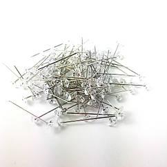 Булавка-гвоздик с кристаллом 3,5 см 72 шт