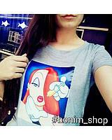 Женская белая футболка с принтом bad disney princess, фото 2