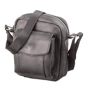 Сумка SHVIGEL 11076 из винтажной кожи Черная, Черный