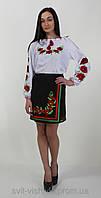"""Блуза вышитая женская """"Маки"""" 0-57, фото 1"""