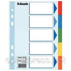 Разделители из цветного картона A5, Esselte, 5 листов