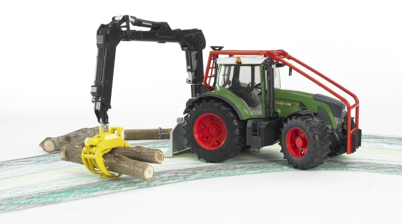 Іграшка Bruder Трактор Fendt 936 Vario лісовий з маніпулятором 1:16 (03042)