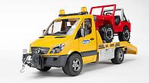 Игрушка Bruder Эвакуатор Mercedes Benz Sprinter с внедорожником свет + звук (02535)