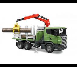 Іграшка Bruder Лісовоз Scania з портативним краном і колодами 1:16 (03524)