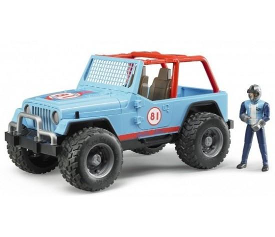 Игрушка Bruder Внедорожник Jeep Cross country с фигуркой гонщика 1:16 (02541)