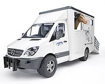 Игрушка Bruder Mercedes Sprinter фургон c фигуркой лошади (02533)