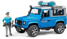 Игрушка Bruder Внедорожник Land Rover с фигуркой полицейского  1:16 (02597)
