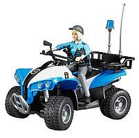 Игрушка Bruder Полицейский квадроцикл с фигуркой женщины - полицейского (63010)