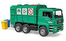 Игрушка Bruder Мусоровоз MAN  TGA с задней загрузкой, зеленый 1:16 (02753)