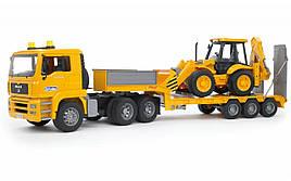 Іграшка Bruder Тягач MAN з вантажною платформою і екскаватором-навантажувачем JCB 4CX 1:16 (02776)