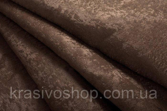 Ткань  блэкаут софт коричневый