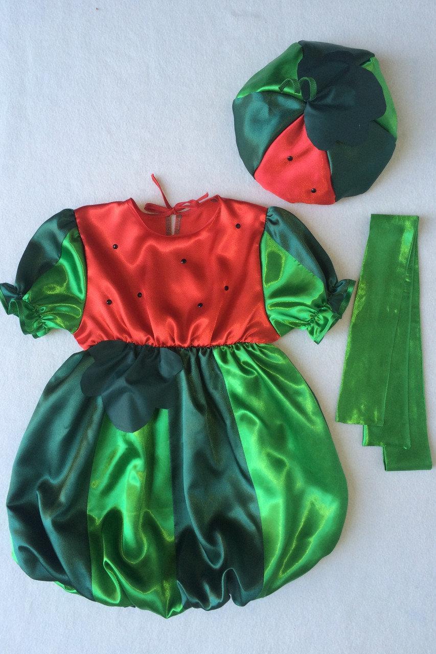 Детский карнавальный костюм Bonita Арбуз №2 (девочка) 95 - 110 см Зеленый