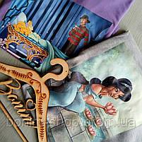 Женская серая футболка с цветным принтом Жасмин, фото 2