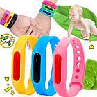Силиконовый браслет отпугиватель от комаров и мошек для детей и взрослых голубого цвета ОПТ, фото 3