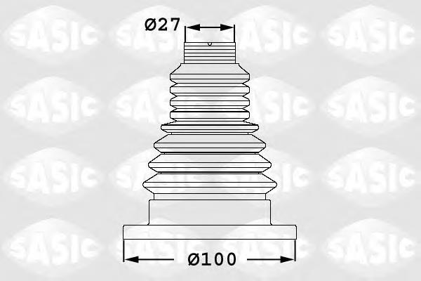 Пыльник ШРУСа внутр комплект (27x99.7x113.5)  SKODA: FABIA 01-03, OCTAVIA 99-, YETI 09-