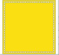 Донышко для вязаных корзин квадратное