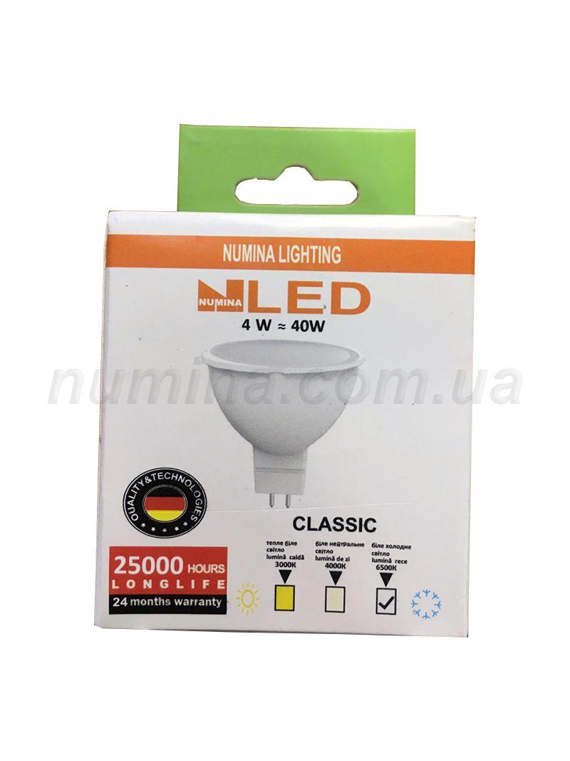 Светодиодная лампа LAMP картон MR16 4W GU5.3 6500K