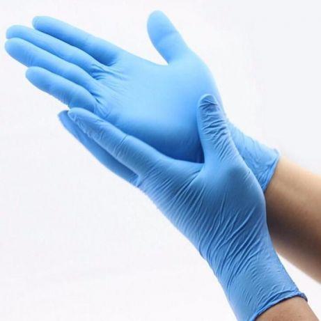 Перчатки нитриловые SafeTouch Advanced Slim Blue