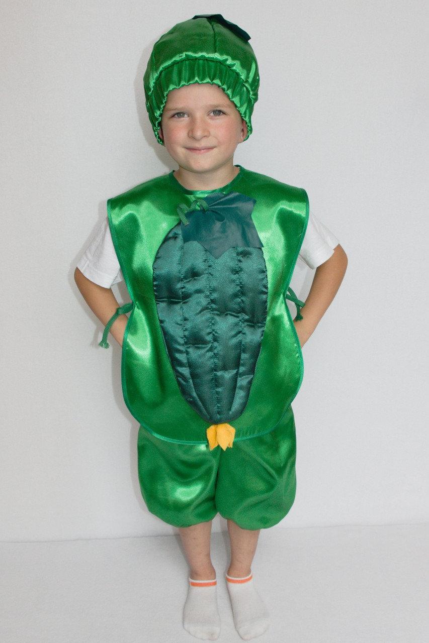 Детский карнавальный костюм Bonita Огурец №1 95 - 110 см Зеленый