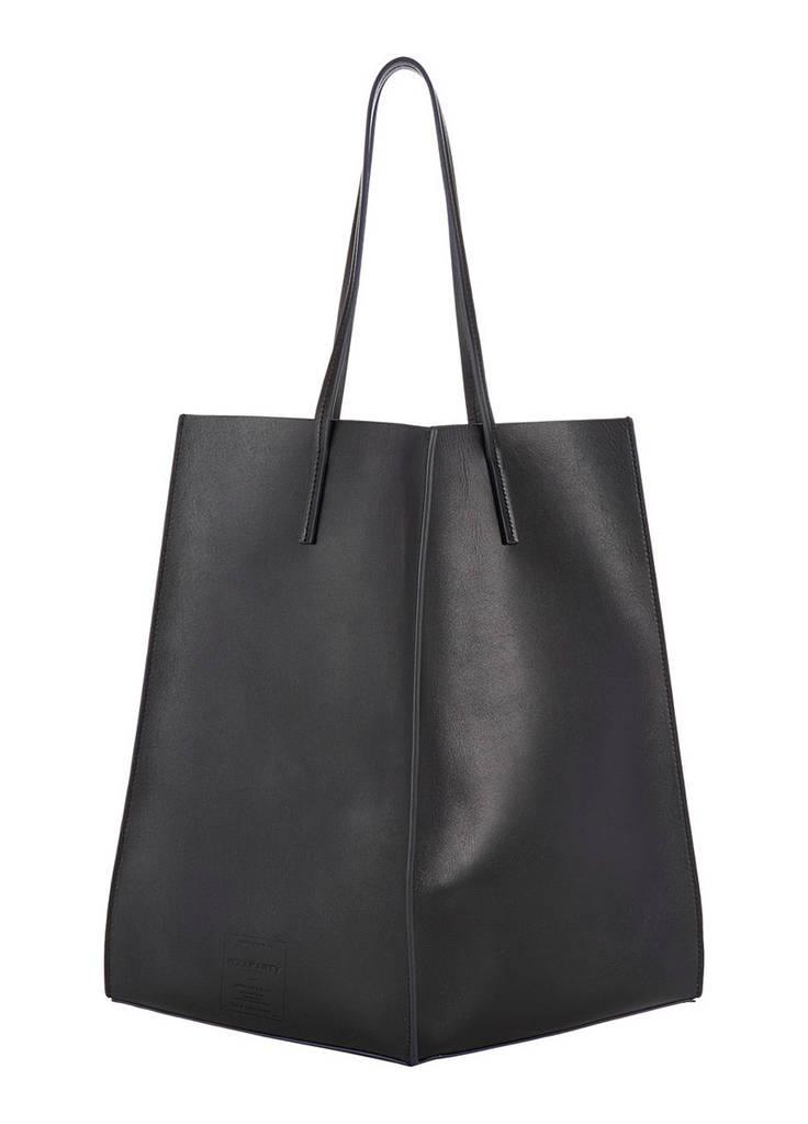 Женская кожаная сумка POOLPARTY MILAN черная