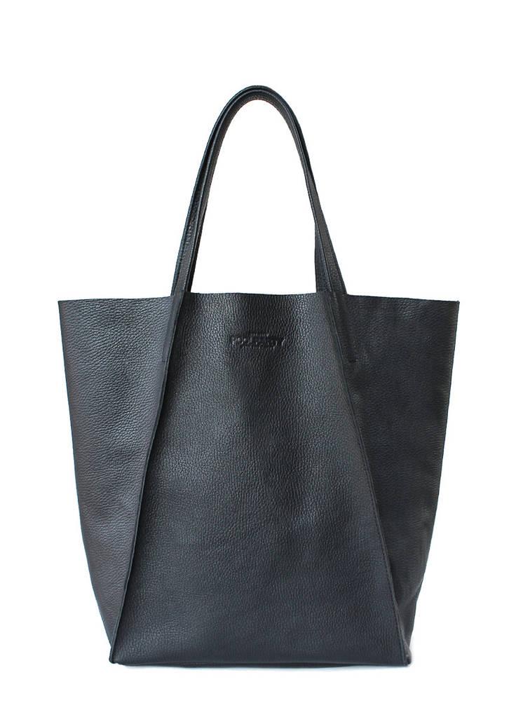 Женская кожаная сумка POOLPARTY EDGE черная