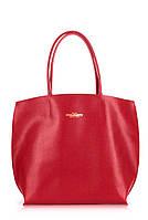 Женская кожаная сумка POOLPARTY PEARL SCARLET красная