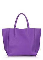 Женская кожаная сумка POOLPARTY SOHO VIOLET фиолетовая