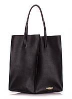 Женская кожаная сумка POOLPARTY MILAN SAFYAN BLACK черная