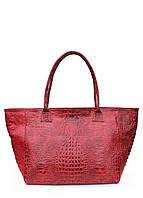 Женская кожаная сумка POOLPARTY DESIRE CROCO RED красная