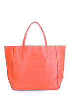 Женская кожаная сумка POOLPARTY SOHO CORAL коралловая, фото 1