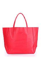 Женская кожаная сумка POOLPARTY SOHO RED красная