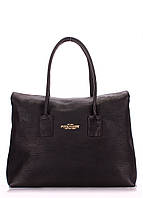 Женская кожаная сумка POOLPARTY SENSE BLACK черная