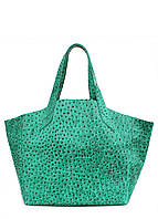 Женская кожаная сумка POOLPARTY FIORE STRUZZO GREEN зеленая