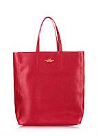 Женская кожаная сумка POOLPARTY CITY SAFYAN SCARLET красная