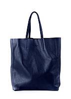 Женская кожаная сумка POOLPARTY CITY DARKBLUE синяя
