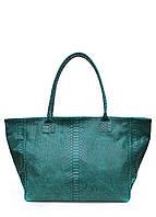 Женская кожаная сумка POOLPARTY DESIRE GREEN SNAKE зеленая, фото 1