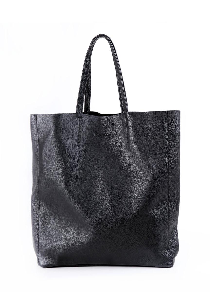 4c8d363d0b27 Женская кожаная сумка POOLPARTY CITY BLACK черная - Интернет магазин