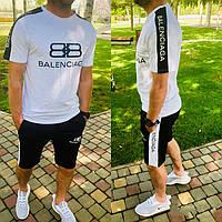 Костюм мужской из хлопка с шортами и футболкой BALENCIAGA Копия (К28105)